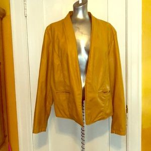 Ashley Stewart mustard colored jacket size 20